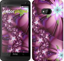 """Чехол на HTC One M7 Цветочная мозаика """"1961c-36"""""""