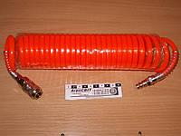 Шланг спиральный с БРС (пневматический) 5 м. трактора, грузовой машины, автобуса, тягача, спецтехники, комбайна, экскаватора, погрузчика