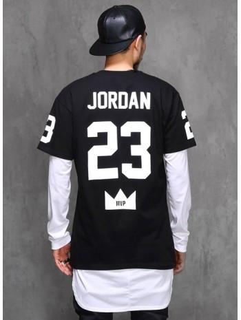 """Футболка мужская с принтом """"Джордан 23"""" JORDAN 23   Черная"""