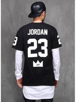 """Футболка мужская с принтом """"Джордан 23"""" JORDAN 23   Черная, фото 2"""