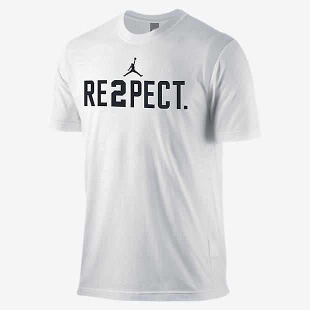 Футболка с принтом Air Jordan Respect мужская | Белая