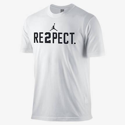 Футболка с принтом Air Jordan Respect мужская | Белая, фото 2