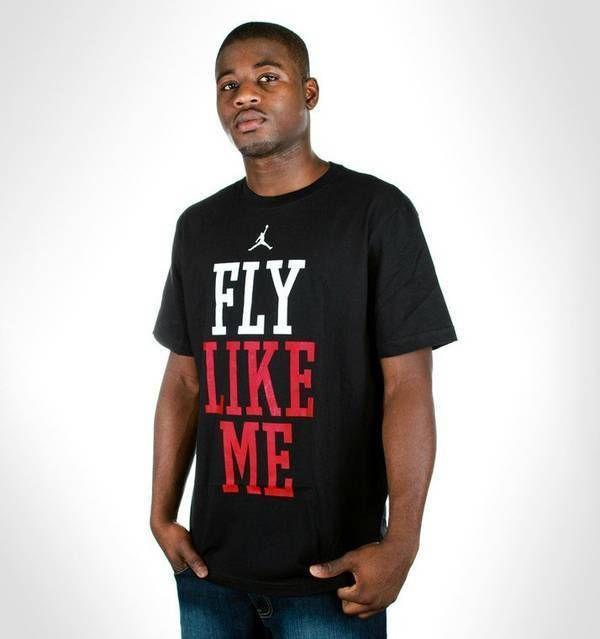 8bcea218ee33 Футболка с Принтом Jordan Fly Like Me Мужская — в Категории ...