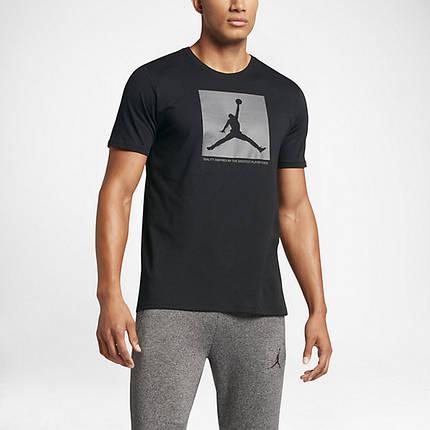 Футболка с принтом AIR Jordan мужская   Черная, фото 2