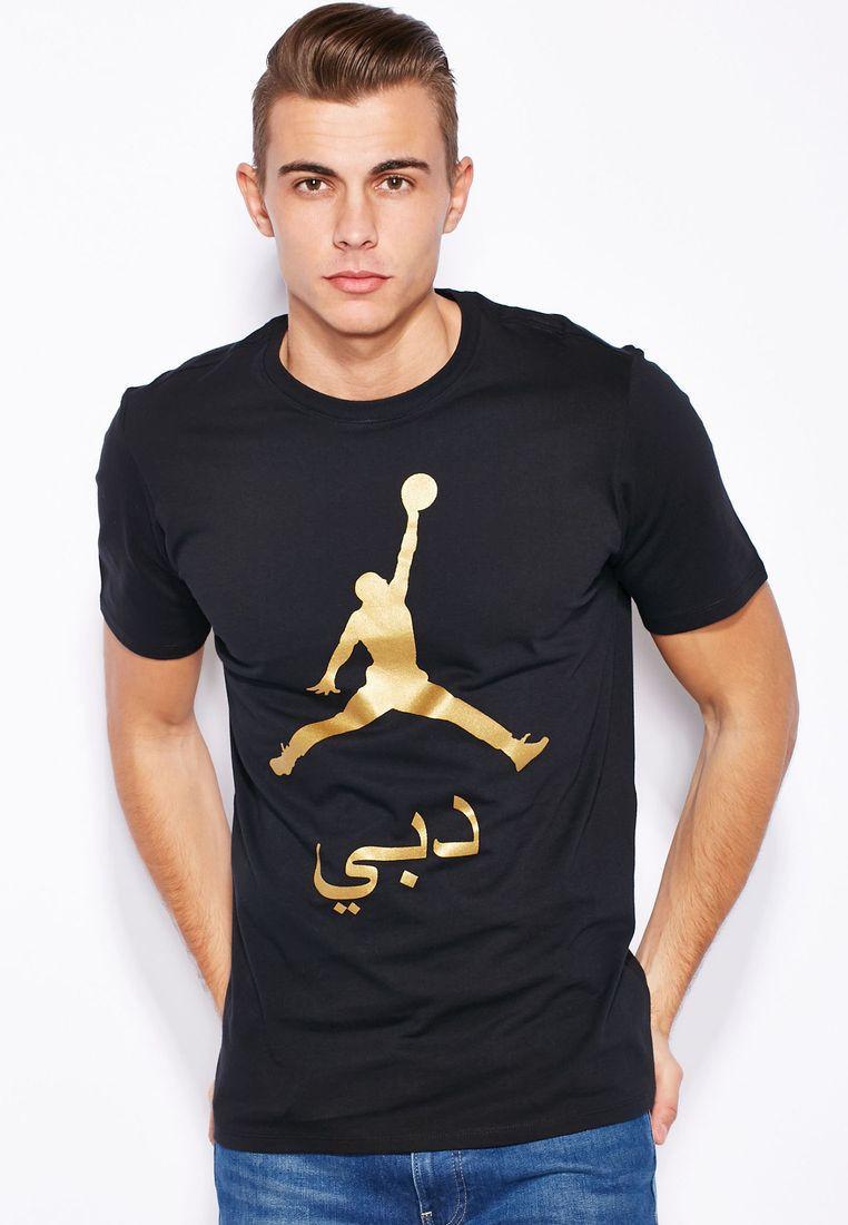 Футболка с принтом Jordan AIR мужская | Черная