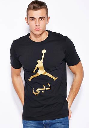 Футболка с принтом Jordan AIR мужская | Черная , фото 2