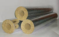 Цилиндр теплоизоляционный с покрытием из алюминиевой фольги толщина 50 мм диаметр 76 мм