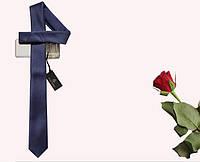 Мужской узкий галстук, тёмносиний artuz1-007