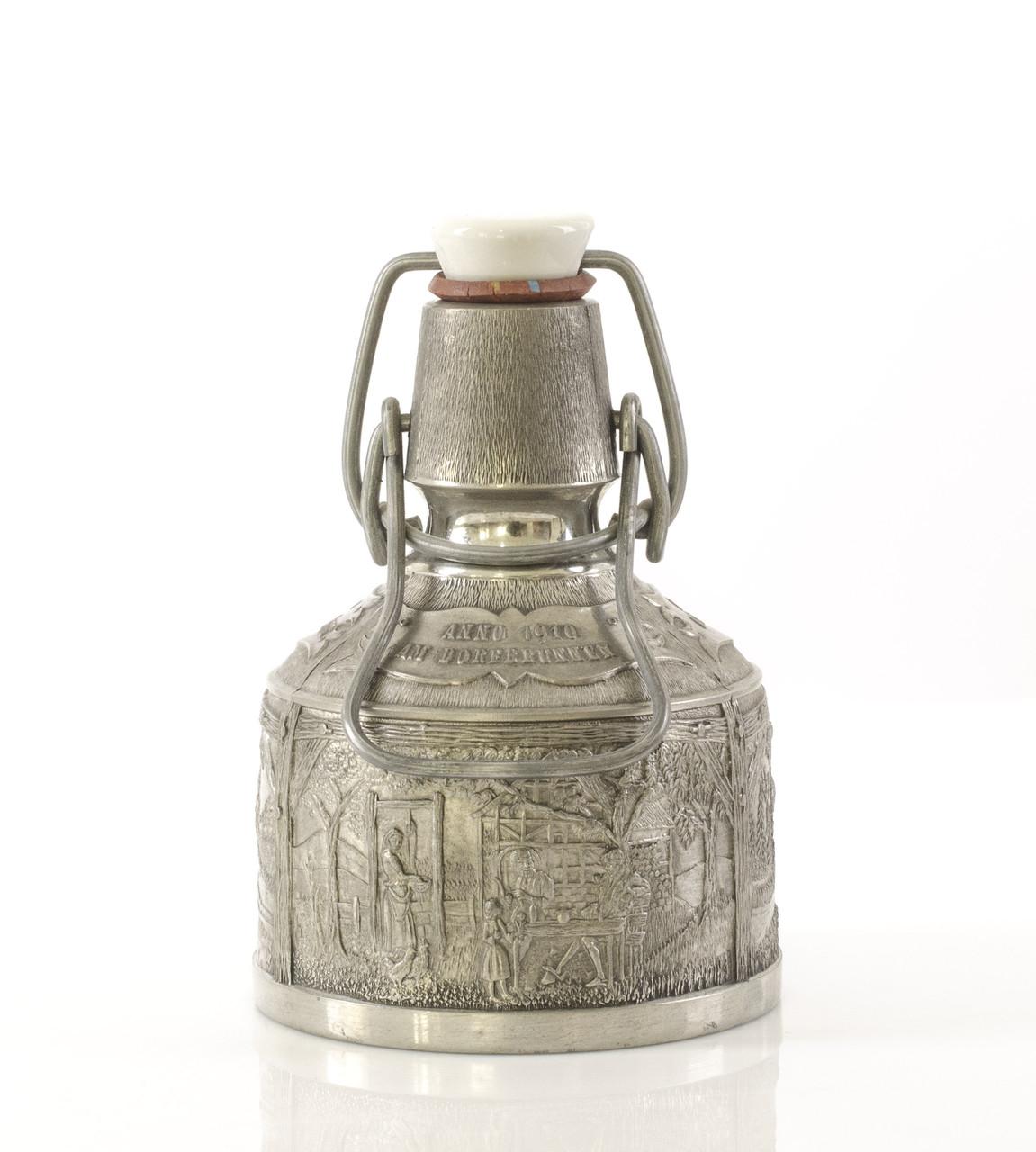 Старая коллекционная фляга, олово, Германия, 250 мл