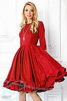 Элегантное пышное платье. Цвет красный.
