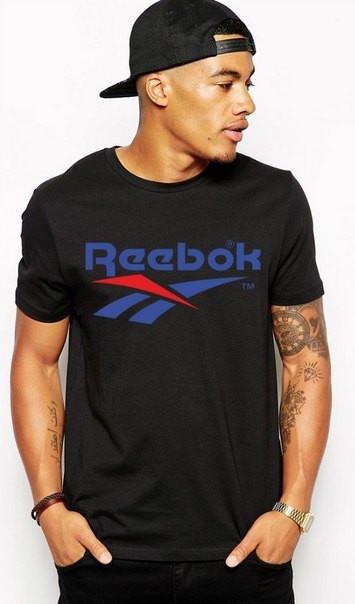 Футболка мужская с принтом Reebok «Рибок»
