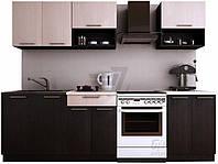 Кухонный гарнитур МДФ 2 метра венге (кухонный комплект мебели)