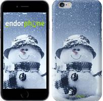 "Чехол на iPhone 6 Plus Весёлый снеговичёк ""214c-48"""