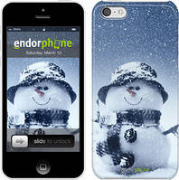 "Чехол на iPhone 5c Весёлый снеговичёк ""214c-23"""