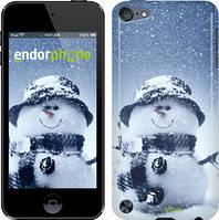 Чехол на iPod Touch 5 Белый, Весёлый снеговичёк