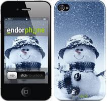 "Чехол на iPhone 4s Весёлый снеговичёк ""214c-12"""