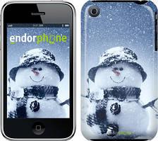 "Чехол на iPhone 3Gs Весёлый снеговичёк ""214c-34"""