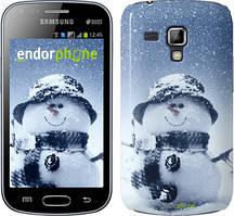 "Чохол Samsung Galaxy S Duos s7562 zka Веселий снеговичек ""214c-84"""