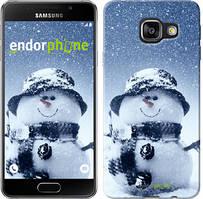 "Чехол на Samsung Galaxy A3 (2016) A310F Весёлый снеговичёк ""214c-159"""