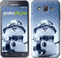 "Чехол на Samsung Galaxy J5 J500H Весёлый снеговичёк ""214c-100"""