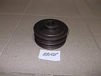 Шкив привода вентилятора ЯМЗ (2-х ручейный) Украина, 236-1308025-Г2