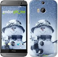 "Чехол на HTC One M8 Весёлый снеговичёк ""214c-30"""