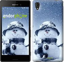 "Чехол на Sony Xperia M4 Aqua Весёлый снеговичёк ""214c-162"""