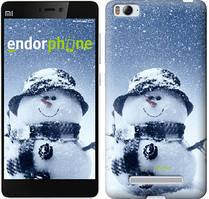 "Чехол на Xiaomi Mi4i Весёлый снеговичёк ""214c-177"""