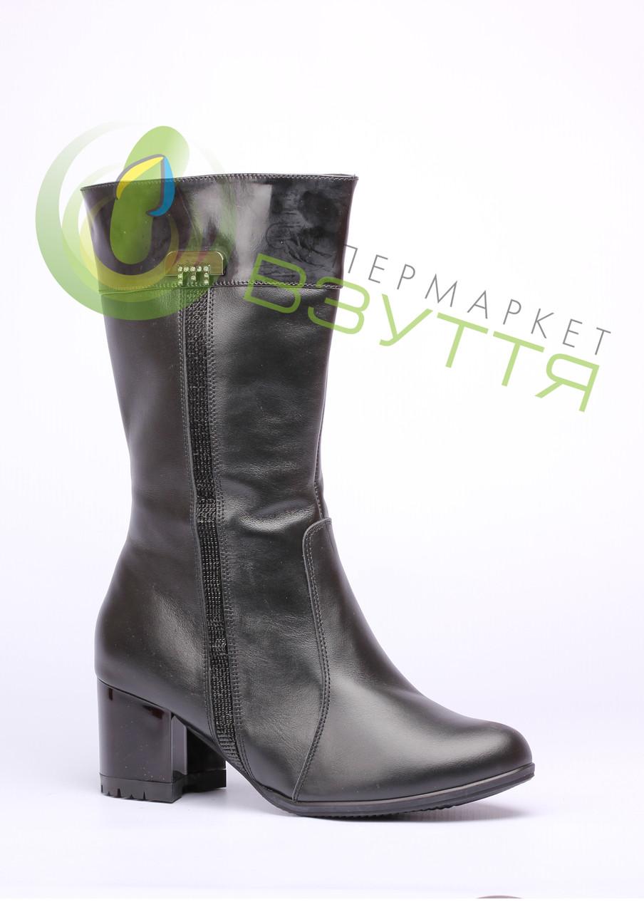 Кожаные женские зимнее сапоги Натали .562ч/к. 43 размер