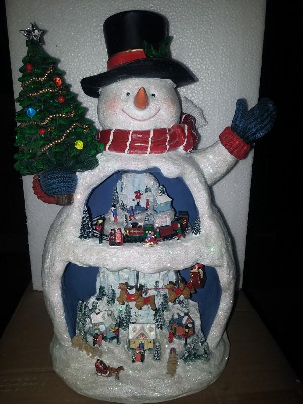 Музыкальная декорация снеговик