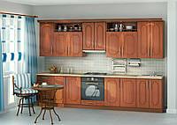 Кухня мдф в цвете вишня на заказ вариант-011