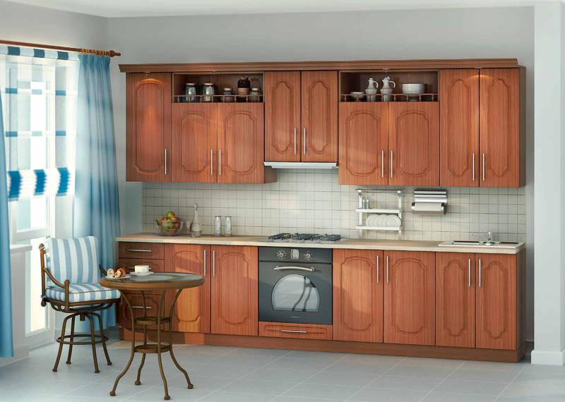 Кухня 3200 мм Киевский стандарт-011 вишня, фото 1