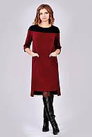 Модное платье Марсала в casual-стиле