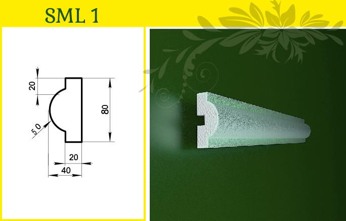 Обрамление окна - молдинг декор из пенопласта усиленный, в/ш, мм: 80 / 40