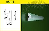 Обрамление окна - молдинг из пенопласта усиленный, в/ш, мм: 80 / 40