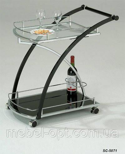 Сервировочный столик SC-5071, сервировочная стеклянная тележка