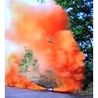 Оранжевый дым DUPLEX, дымовой факел цветной, оранжевый дым для фотосессий