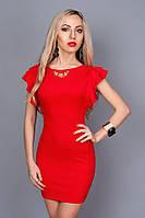 Шикарное красное платье с открытой спиной