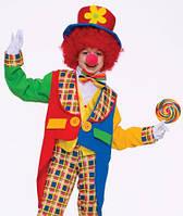 "Карнавальный костюм ""Клоун"", S/M/L (110-140см), шляпа/фрак/бабочка/штаны,"