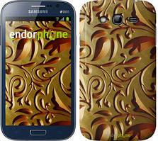 "Чехол на Samsung Galaxy Grand Neo I9060 Золотой металлический узор ""746c-112"""