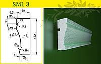 Обрамление окон - молдинг из пенопласта усиленный, в/ш, мм: 155 / 60