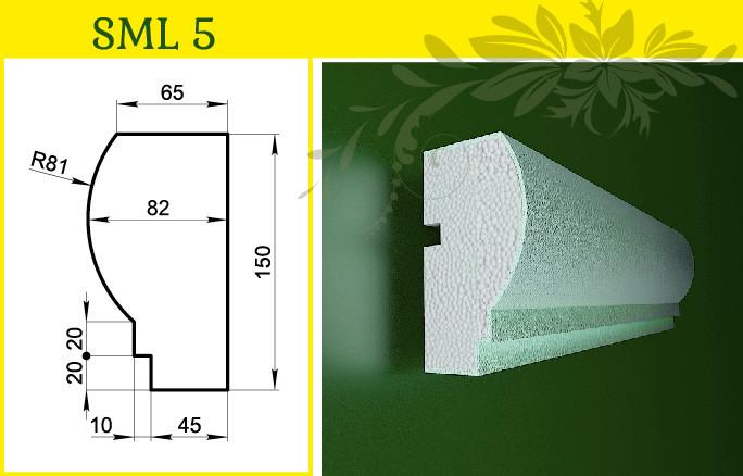 Молдинг декоративный для отделки фасада, в/ш, мм:  150 / 85