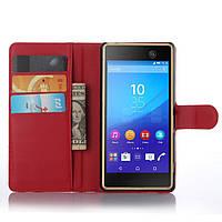 Чехол Sony M5 / E5633 / E5603 книжка PU-Кожа красный