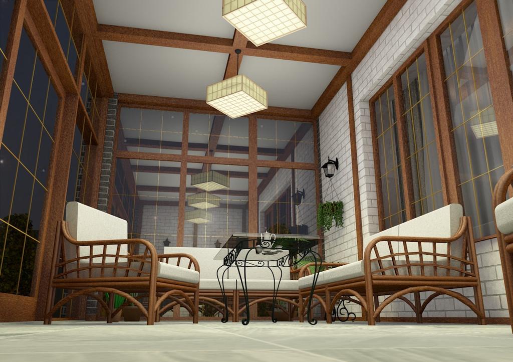 Веранда частного дома 4
