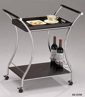 Сервировочный столик SC-5100, сервировочная тележка для ресторана и дома, ламинированный МДФ цвет - орех