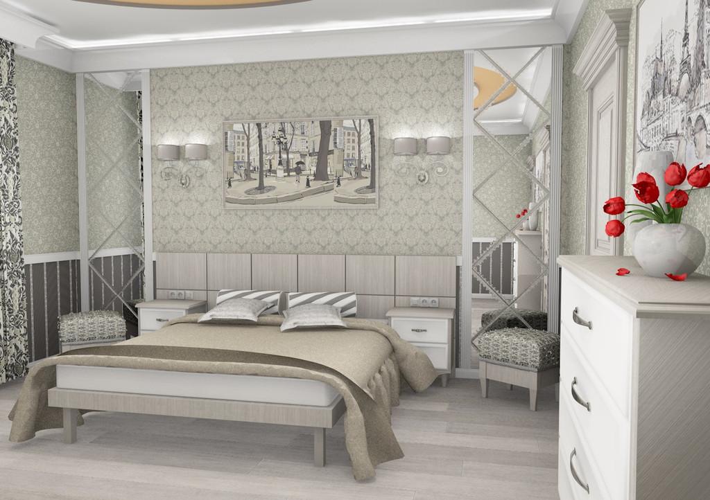 Одна из спален в доме.  12