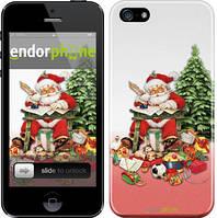"Чехол на iPhone 5 Дед Мороз с подарками ""219c-18"""