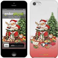 "Чехол на iPhone 5c Дед Мороз с подарками ""219c-23"""