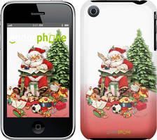 "Чехол на iPhone 3Gs Дед Мороз с подарками ""219c-34"""