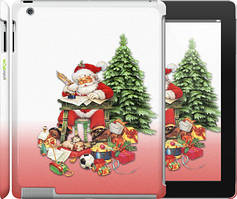"Чехол на iPad 2/3/4 Дед Мороз с подарками ""219c-25"""